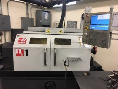 Used 2015 Haas TL-1 CNC Turning Center Lathe 4 Jaw Chuck Tool Post VPP Enclosed