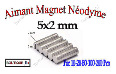 Aimant Neodyme Magnet Disque Puissant Rond 5X2 Mm