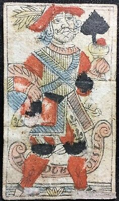 Dubois Ancient Antique Scarce Playing Cards Woodcut Liege Museum Quality Single