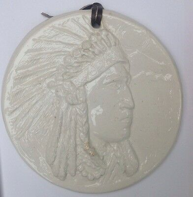 Native American Indian Head Plaque