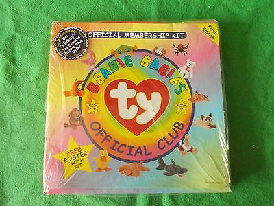 First Edition Ty Beanie Babies Official Club Membership Kit - Unopened