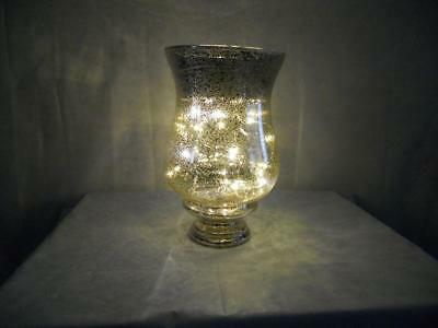 """brand new QVC 10"""" mercury glass vase with led lights and batteries BARGAIN PRICE"""