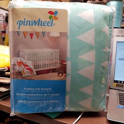 New Pinwheel 4 -Piece Crib Bumper