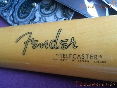 Replacement decal for 1961-1965 Fender Telecaster Decal Vintage Logo