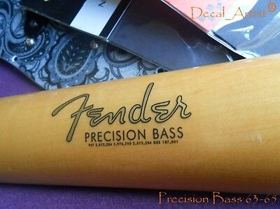 Replacement decal for 1963-1965 Fender Precision Bass Decal Vintage Logo