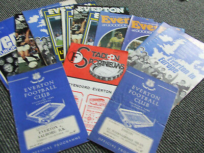 Collection Of Everton Homes In Europe X 14 Issues  2 Extras See Details 1963-85