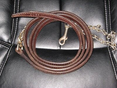 MacPherson HIgh Quality LEATHER Lead Shank Leadline Stitched Doubled GUC 6'