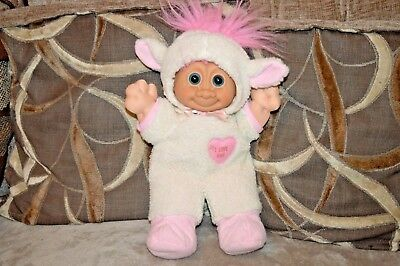 "12"" Russ Berrie Vintage Troll Kidz Lamb  Love Ewe Doll Stuffed Animal Plush Toy"