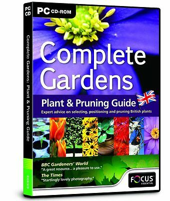Complete Gardens: Plant & Pruning Guide (PC CD ROM) New/Sealed