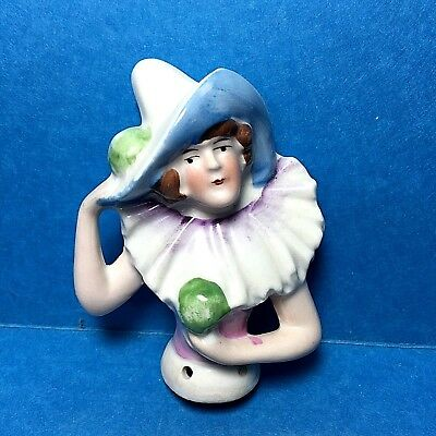 Vintage Porcelain Pin Cushion Half Doll  #18  Free Shipping