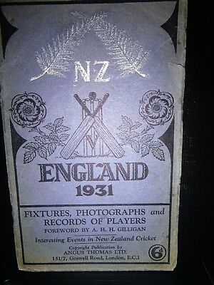 Rare Official 1931 New Zealand Cricket Tour to England Guide