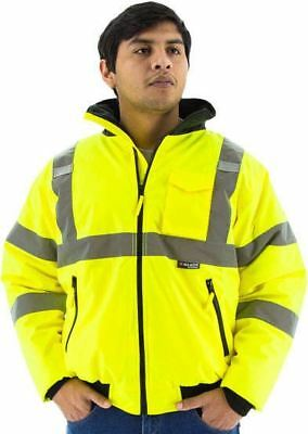 Majestic CLASS 3 HIGH VISIBILITY BOMBER JACKET W/ FIX QUILT LINER (75-1300) Med
