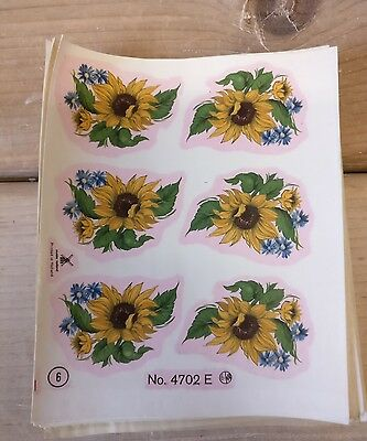 Sunflower Water Slide Ceramic Transfers Prints Lithos Decals Prints 48 Decals