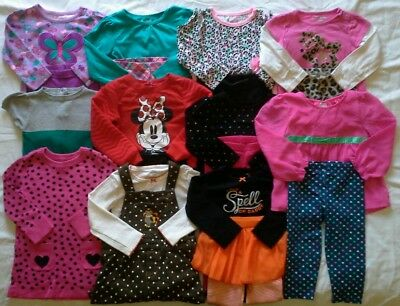 Girls 24 months 2T Fall Winter Clothing Outfits Shirts Pants Clothes lot!