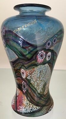 Jonathan Harris Studio Art Glass Watergarden Vase 15cms High Signed to base