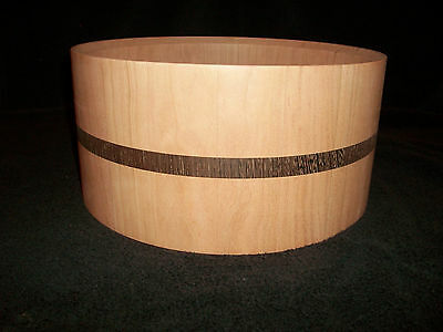 6 1/2  x 14    Cherry/Wenge Solid Stave Snare Drum Shell