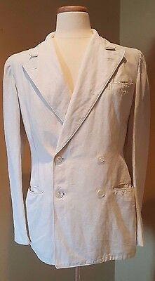 "Rare-Vintage 1920's Palm Beach Dbl Breast linen suit made of the ""Genuine Cloth"""