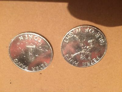 Collection Of 12 Tokens From Peter Pan's On The Isle Of Wight