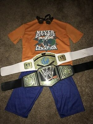 WWE John Cena Boys Costume With Becky Lynch Goggles And Belts