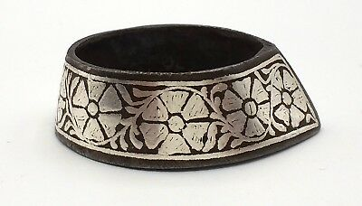 Mughal Silver Iron Archer Ring Archery No Bow Quiver Thumb Ring Collectible Ind