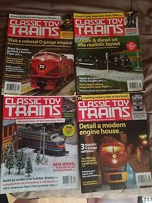 Classic Toy Trains Magazine Lot of 4 Magazines Free Shipping! LGB Lionel MTH