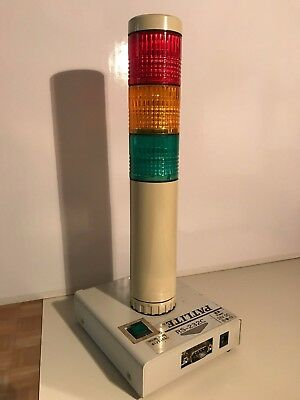 Patlite, PC Controlled Signal Tower, 40mm, RYG, RS232C,, PHE-3FBE1-RYG+FT008
