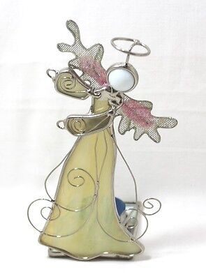 Stained Glass Angel with Tealight Candle