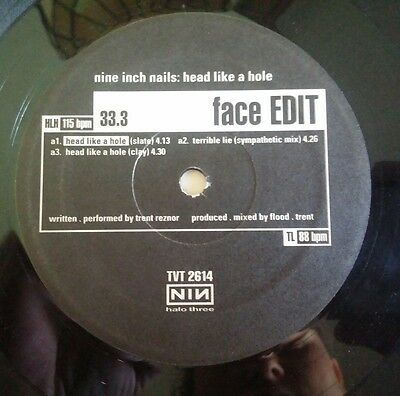 "Nine Inch Nails ""Head Like A Hole"" Industrial LP Halo Three Vinyl Record RARE"