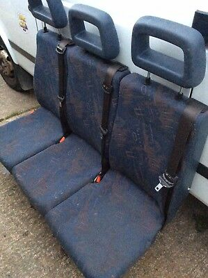 MINIBUS SEATS great for a camper conversion built in seat belts