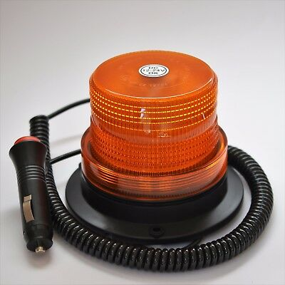12-24V LED Beacon Amber Magnetic- Safety Tractor Light