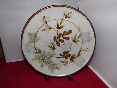 """Vintage,Highland Stoneware """" Large Wall Plate """" Floral Design 10 inch across"""