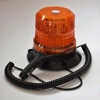 LED Beacon12-24v Flashing Amber Magnetic- Safety Tractor Light