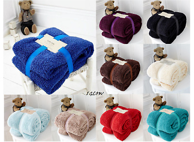 Blankets & Throws Teddy Bear Luxurious Throws Super Soft Warm Cosy Sofa And Bed Fleece Blankets Gc