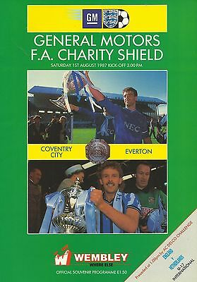 Coventry City v Everton - FA Charity Shield - 01 August 1987