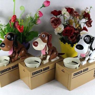 Choken Hungry Eating Dog Coin Bank Saving Box Piggy Bank Kids Gi NE Moneybox UK