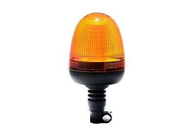 12-24V LED Beacon Amber Flexible DIN Pole Mount Rotating Flashing Safety Tractor