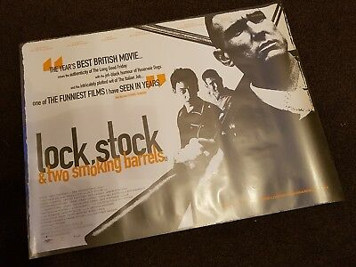 lock,stock & two smoking barrels-original quad poster 40x30inches exc cond
