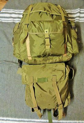 Large Austrian Army Olive Rucksack with Day Pack, Harness Belt. Like Alice Pack
