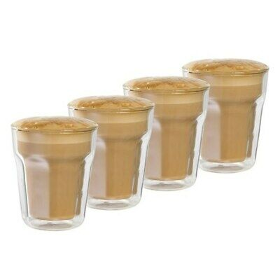 New Baccarat Facet 8 oz/236ml Double Wall Latte Glass - Set of 4