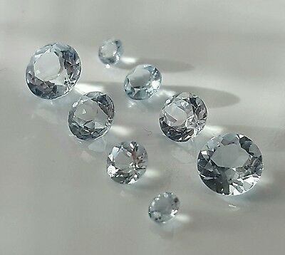 WaterfallGems VVS Light Blue Topaz, Round, 3-4-5-6mm, 4.08tcw