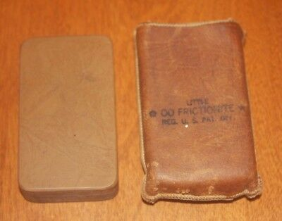 Vintage Little Frictionite No. OO Razor Hone With Leather Pouch