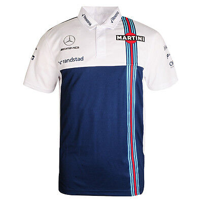 2017 OFFICIAL F1 Williams Martini Racing Team Mens Garage Polo shirt – NEW