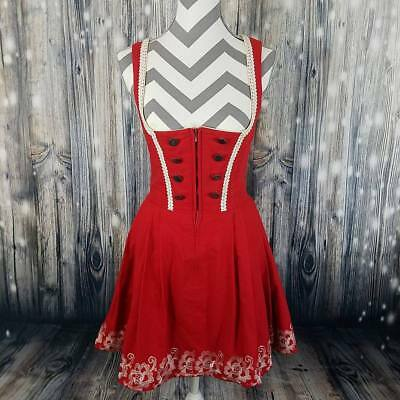 VTG DIRNDL Austrian Trachten Authentic Oktoberfest Embroidered Waistress Dress
