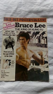 Bruce Lee King Of Kung Fu Poster Magazine