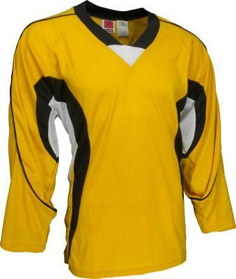 KAMAZU Men's Hockey Jersey - Gold/Black/White - L - NEW