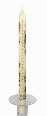 MERRY CHRISTMAS ADVENT CANDLE by SEBNINI Made in the UK DINNER CANDLE COUNTDOWN