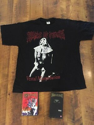 Cradle of Filth - Autographed/signed shirt and DVD, VHS - Vestial M@sturbation