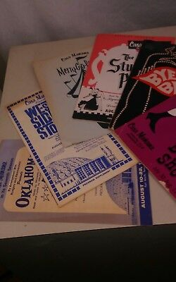 Casa Manana Fort Worth Vintage Playbills Programs Good Condition 1960s lot of 6