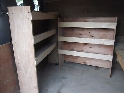 2 x used wooden Van Racking Shelving  fits SWB +LWB vans -collect dy8-west mids