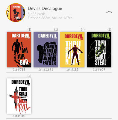 Quidd Marvel Devil's Decalogue Complete Set with some Low Counts (Dare Devil)